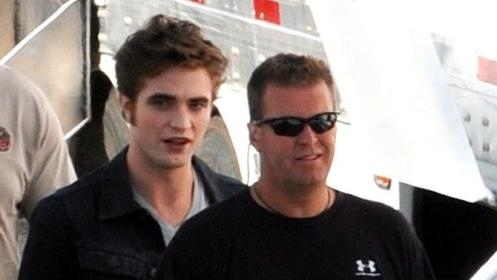 Robert Pattinson en el set de Eclipse (Agosto 28, 2009)