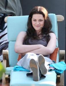 Kristen filmando Eclipse (Agosto 31, 2009)