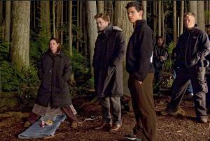 Kristen, Rob y Taylor en el set de Luna Nueva  (Abril 24, 2009)